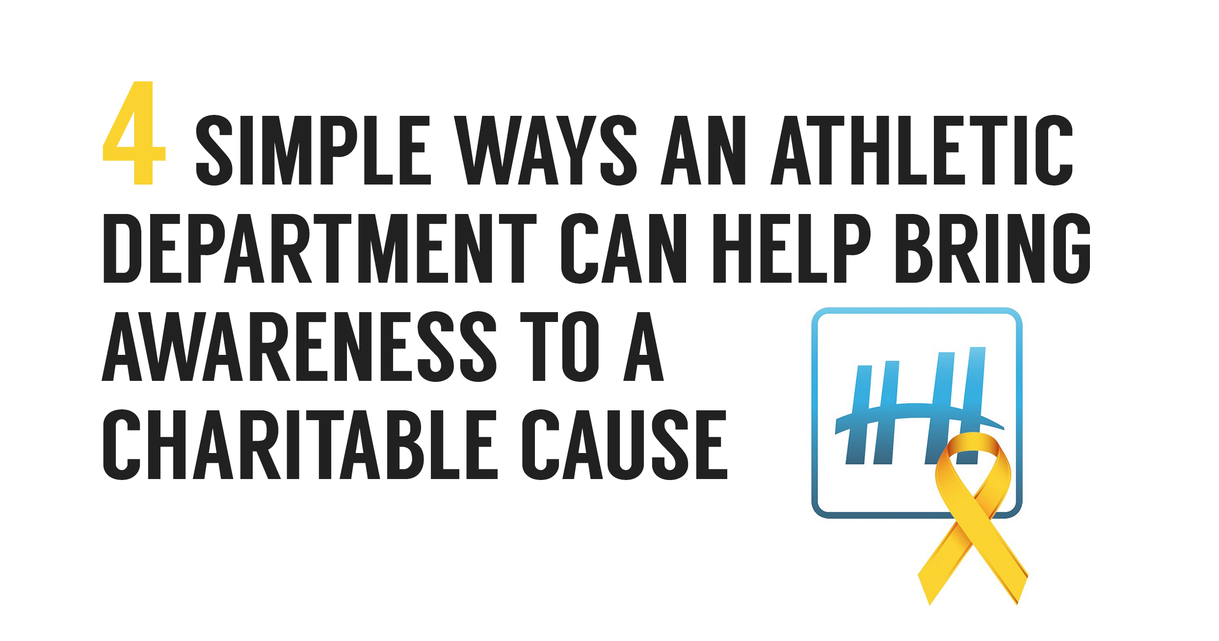4 Ways To Bring Attention To A Cause and Help Your Athletes Give Back To The Community
