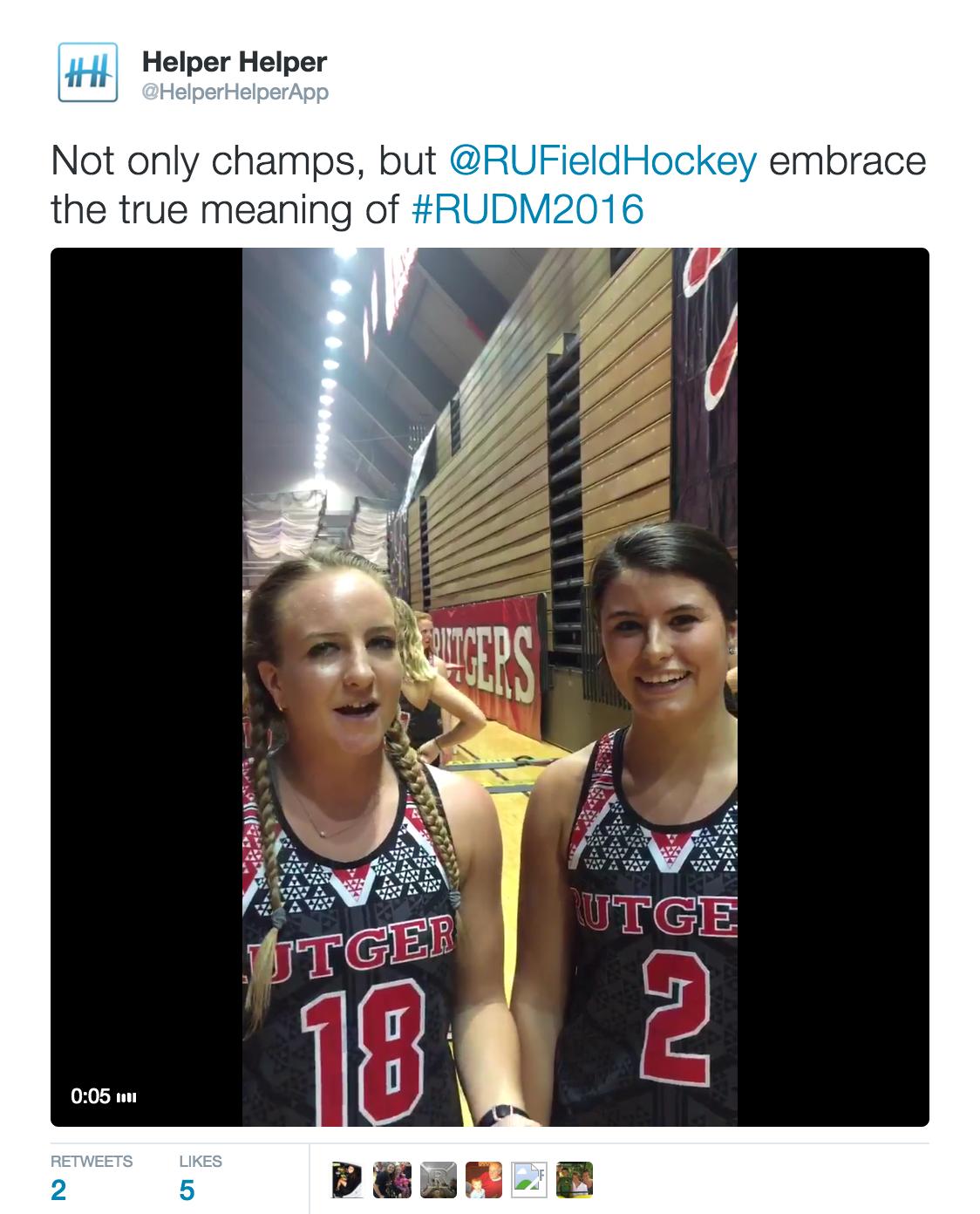 Rutgers Athletics Community Service
