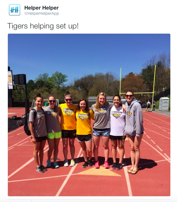 Towson Athletics Twitter Takeover Helper Helper