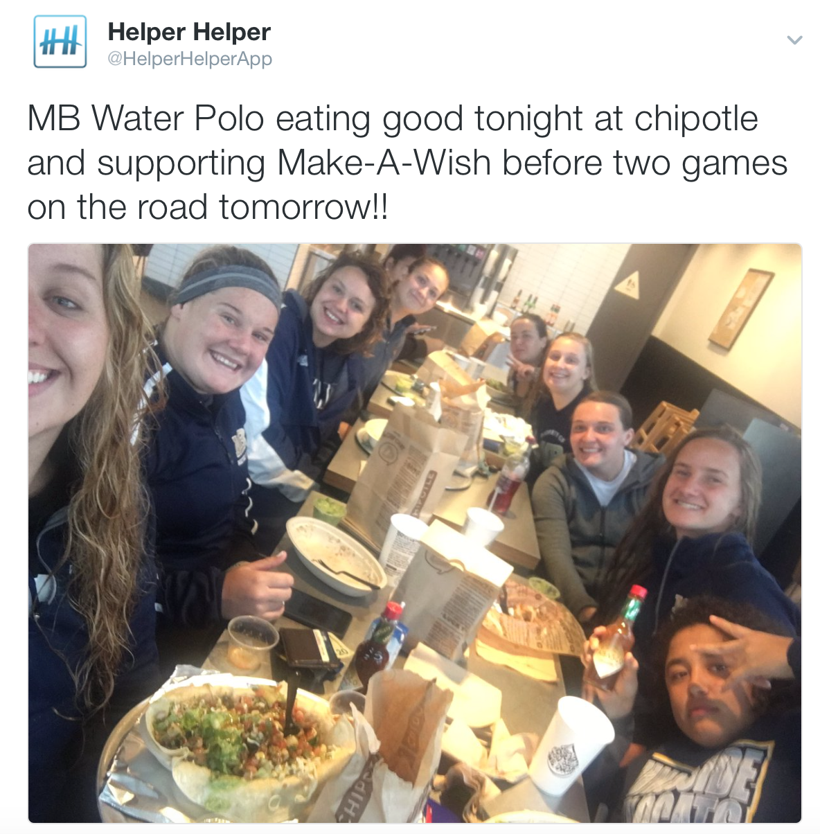 Burrito party for Make-A-Wish Foundation