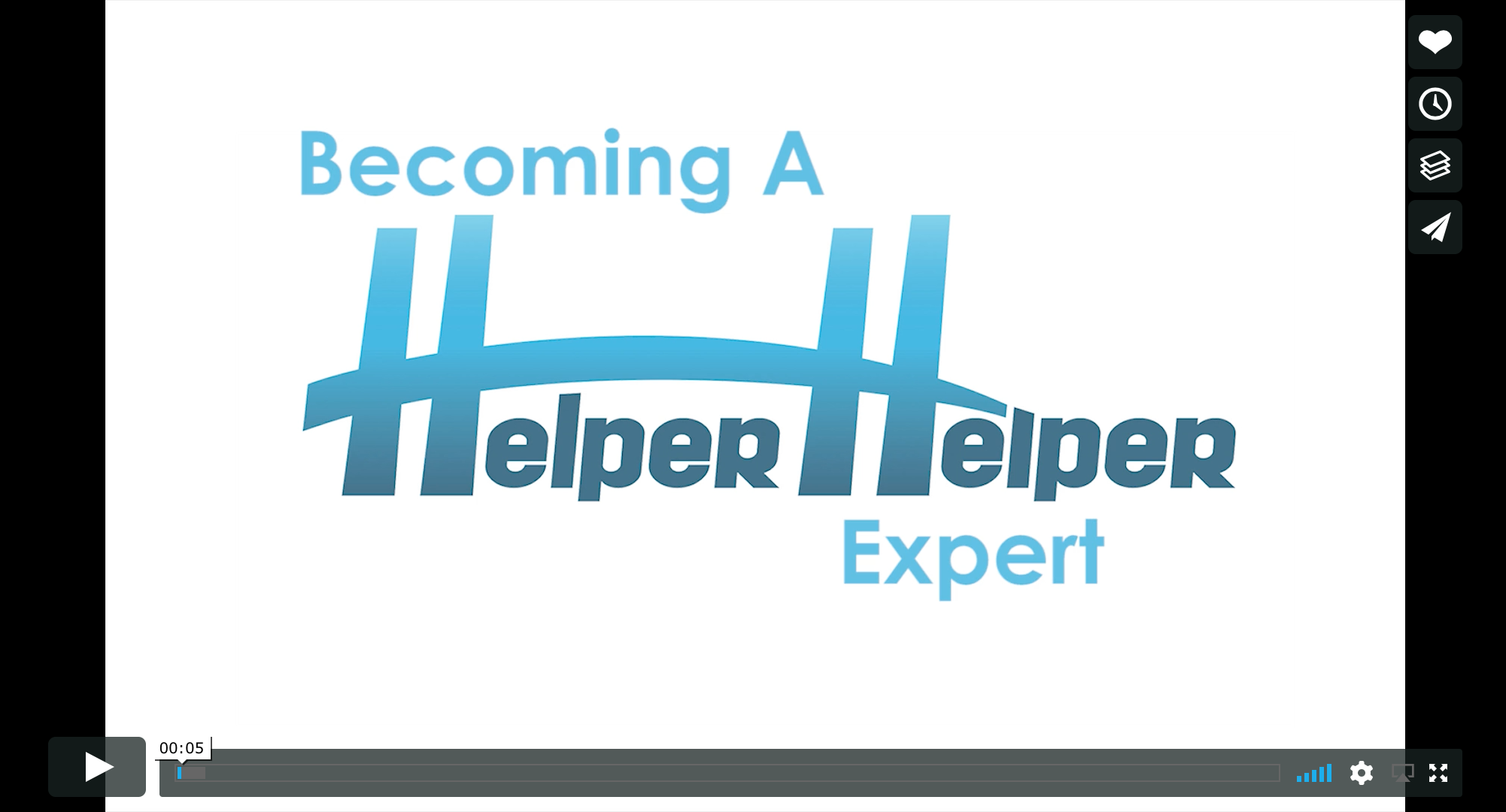 Becoming a Helper Helper Expert