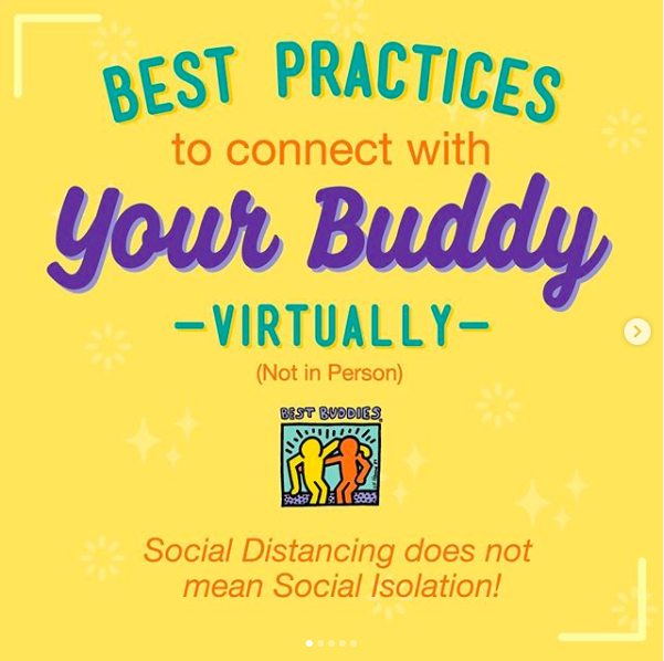 Best Buddies virtual volunteering